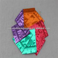 Golden printed potpourri ziplock abg/foil resealable incense bag/Mini aluminum foil mylar plastic ziplock bag for 2g 10g