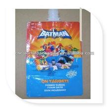 Aluminum foil juice&beverage spout pouch/Drinking water spout plastic bag/Liquid spout pouch packaging bag