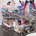 Exhibición de acrílico cosméticos para sombra de ojos--- maquillaje organizador de acrílico