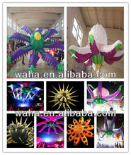 Hot selling Ceiling Inflatable Decoration Stage inflatable with LED Light