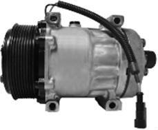 Iveco compressor PV8 groove 7 cylinder 24V Pulley Diameter 123/119 OEM NO.8144 8090 4894306