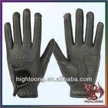 Premium Cabretta black leather golf gloves