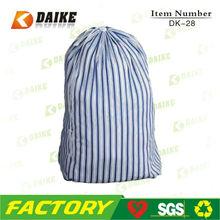 Eco-friendly Striped Cotton Linen Drawstring Bag DK-28