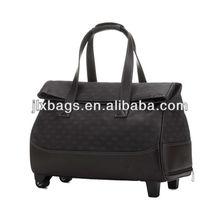 Mens Carry on Duffle Bag PU Luggage Bag