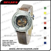 2011 girls brand watch with genuine leather orologi uk watch fashion/slap on watch uk 2038