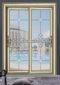 Doble capa de ácido vidrio grabado al agua fuerte puerta corredera