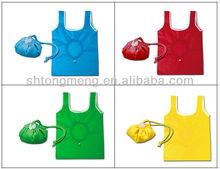 190T Polyester/Nylon T-Shirt Reusable Foldable Shopping Bag