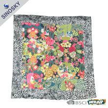 fashion lady 100 cotton voile square scarf