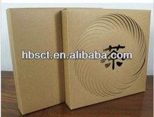 Brown Paper Die Cut Tea Gift Box With Puller