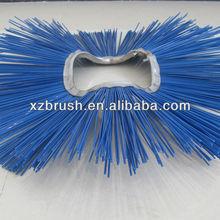 Bent circle road sweeper brushes