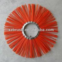 Road sweeper wheel brush
