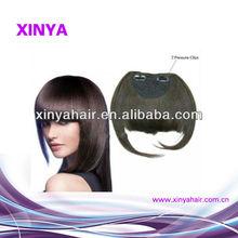 Hot!!! Classic style clip in bangs human hair/Brazilian Virgin hair extension