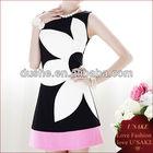 Ladys Fashion Black Summer Stretch Flower Korea Dress 2013
