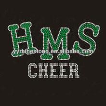 HMS cheer hotfix rhinestone transfer motif