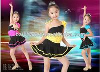 XC-089 salsa dance dresses children girl latin dance dress ballroom dancing dresses china