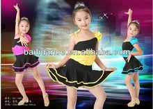Robes de danse salsa xc-089 enfants fille robe de danse latine salle de bal robes de danse de la chine