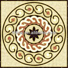 Minimalist design Porcelain InkJet Printing red marble Polished Golden 120X120cm carpet tile