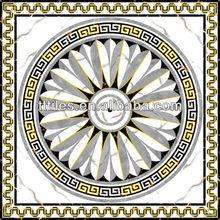 ROMA STYLE Porcelain InkJet Printing white marble Polished Golden 120X120cm carpet tile