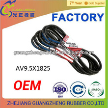 factory directAV9.5*1825la cogged mitsubishi/dongil/dayco/goodyear v belt and keilriemen for volvo/benz/vw/kia/suzuki/chevrolet