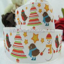 """Factory Ribbon 7/8"""" Christmas snow man ribbon printed ,ribbon bow,hair accessory,hairbow"""