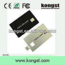 Logo printed Super thin Credit card flash drive USB 2gb,usb flash disk card 2gb 4gb,Low price USB flash memory card 4gb