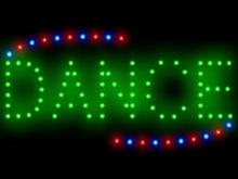 3Q0426 Dance Improvisational Keep Fit Musical Hip Hop Dynamic Movement LED Sign