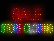 3Q0437 Sale Store Closing Huge Crowd Retail Shop Mall Entrance Notice LED Sign