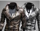 New Slim Men's Leather Jackets,Men Leather Motorcycle ThickWwarm Jacket