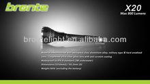 Bronte X20 High brightness 800 lumens tactical hunting gun light