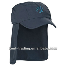 Sun cap with detachable neck protection and customized logo is ok