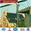PVC coated/galvanized plastic chain link fence (ISO,BV)