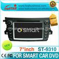Mercedes benz smart 2011-2012 controlado por rádio de carro com gps de navegação rádio tvipod canbus bluetooth dual zone usd