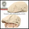 vendedor de periódicos de la boina cabbie golf gorra plana sombrero de moda