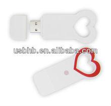 sweet heart& promotional gift & custom logo usb flash drive with printing logo