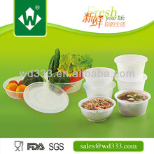 Disposable Round Plastic Food box