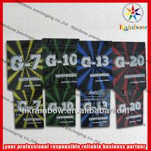 mini aluminum foil sachet with G20 in stock for herbal incense spcie smoke bag