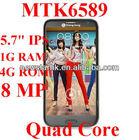 N8100 5.7inch Changjiang N8100 MTK6589 Quad Core Smart phone android 4.2 HD 1280*720 screen 1G RAM 4G ROM
