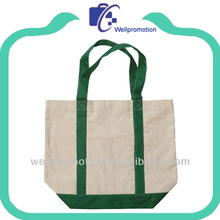 Wellpromotion canvas bag tote with outside pockets for shopping