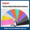 109Keys Wholesale soft Multi-color foldable silicone Waterproof keyboard