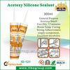 300ml silicone glass glue Acetoxy black color sealant