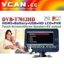 """Mini Car box tv DVB-T receiver with 7"""" Touch Screen DVB-T7012HD"""