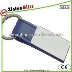 Promotional blank leather key tag with custom logo