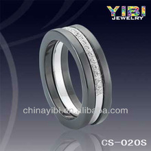 Fashion Fine Silver Jewelry Black Ceramic Silver Rings Yibi China Imitation Jewellery Pictures