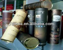 tin cover and tin base wine gift tube