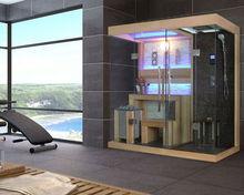 Combination of dry sauna room & wet steam room FS-1389