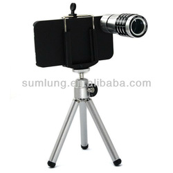 hot!For Apple iPhone 5 5G 5th Mini 8X Zoom Telescope Camera Lens with Back Cover Case