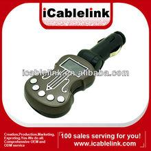 Guitar car mp3 player with fm modulator 12v wireless coffee