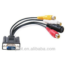 LBT2i6 VGA Adapter to TV S-Video RCA Out Cable for PC Video