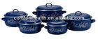 5 pcs enamel coated cast iron cookware set
