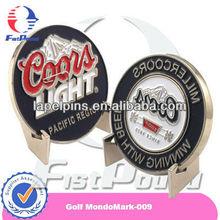 Golf Silver Enameled Ball Marker Medallion